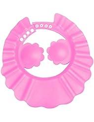 Culater® Champú Ducha BañO Proteger Ajustar Tapa Sombrero Suave Para El Bebé (Rosa)