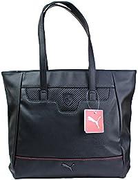 ac83b9f3e Puma Ferrari LS Shopper Mujer Bolso de tela de Poliuretano para mujer negro  negro