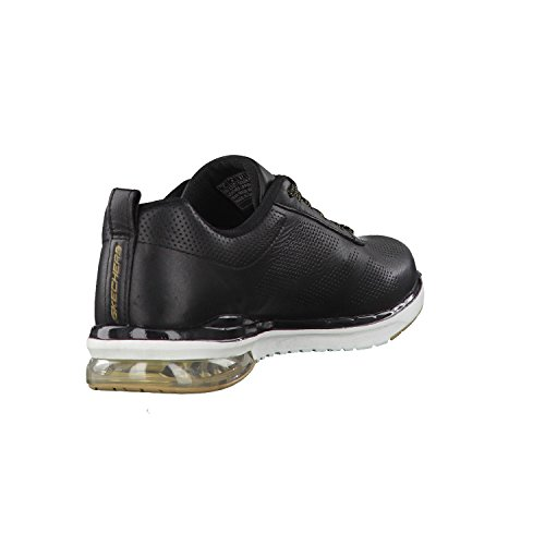 Donne Skechers 36 37 38 39 40 41 in pelle nera intercambiabile Nero / Oro