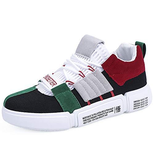 Dorical Laufschuhe Herren Freizeit Mode Sneaker Sportschuhe Leichte Straßenlaufschuhe Running für Outdoor, Männer Ins Super Feuer Atmungsaktiv Mesh Schuhe Erleuchtung Beiläufig Schuhe(Schwarz,41 EU)
