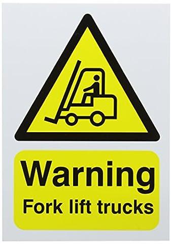 SIGNS & LABELS HA23851R Safety Sign, Warning Fork Lift Trucks,