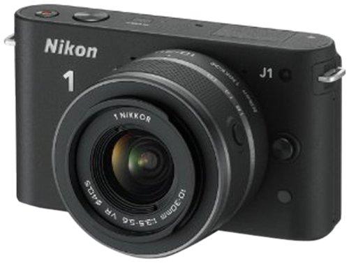 Nikon 1 J1 Systemkamera (10 Megapixel, 7,5 cm (3 Zoll) Display) schwarz inkl 1 NIKKOR VR 10-30 mm Objektiv
