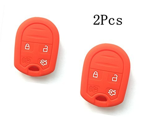2pcs-new-red-protect-silicone-skin-remote-key-jacket-skin-protector-cover-for-ford-focus-flex-taurus