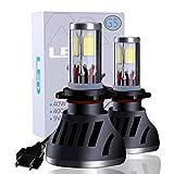 Kraumi Ampoules LED H7 Phare de Voiture 8000LM 80W Kit de Conversion Ampoules pour Voiture Auto 6500K Blanc Etanche