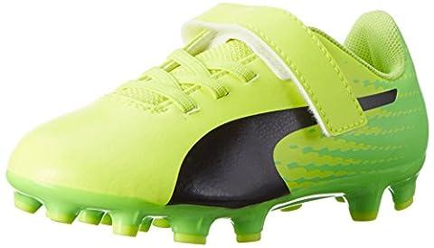 Puma Unisex-Kinder Evospeed 17.5 AG V PS Fußballschuhe, Gelb (Safety Yellow-Puma Black-Green Gecko 01), 30