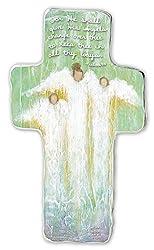 Cathedral Art SIM151 Guardian Angel Art Metal Cross, 6-Inch