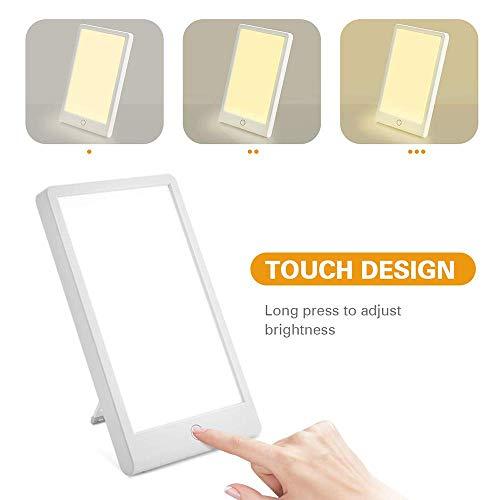 BD.Y SAD Lampe 10000 Lux Lichttherapielampe mit Timer, Einstellbarer Helligkeit und DREI, UV-frei