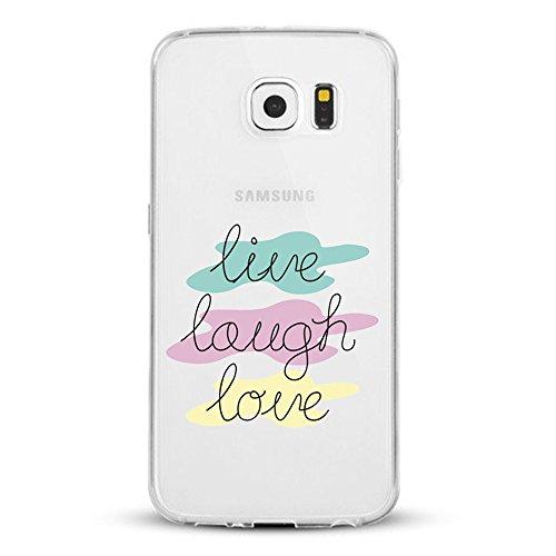 Vanki® Galaxy S7 Coque, Motif de mot personnalisé Ultra transparente silicone en gel TPU souple Coque de Bumper et Anti Scratch Shock Absorption for Samsung Galaxy S7 4