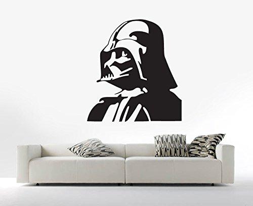 Star Wars Darth Vader wallkraft adhesivo Mural Wall Art transferencia de la plantilla, vinilo, negro, 55 x 45