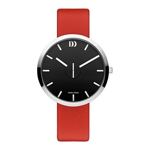 Danish Design Steel Women's Watch Analogue Quartz Leather Red IQ24Q1198