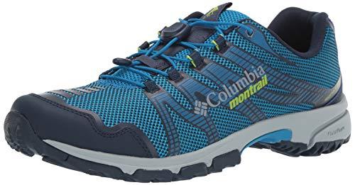 Columbia Herren Traillaufschuhe, MOUNTAIN MASOCHIST IV, Größe 45, Blau (Dark Compass, Bright Green) Mountain Schuhe