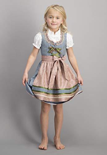 Stockerpoint Mädchen Kinderdirndl Lucy Dirndl, Mehrfarbig Blau, 110/116 (Herstellergröße: 110-116)