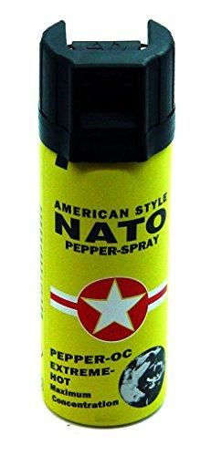 große Dose Tränengas Pfefferspray American Style NATO 50ml Extreme Pepperspray Abwehrspray