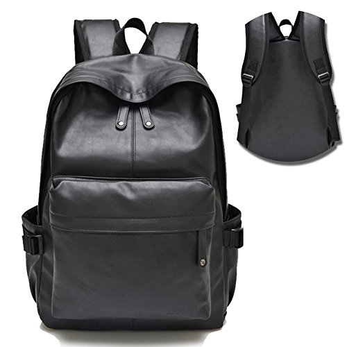 MUMA Zaini Casual Borsa per il computer portatile da viaggio per il movimento degli uomini in PU ( Colore : Black-1 ) Black-1