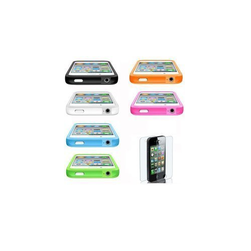 Avcibase 4260310640228 Bumper Schutzhülle mit Displayschutzfolie für Apple iPhone 4S/4G/S (6-er Pack)