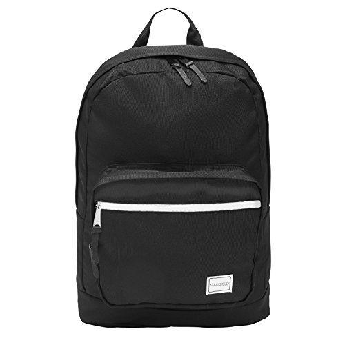 Strapazierfähiger Schwarzer Rucksack - Perfekt geeignet als Schulrucksack Oder Tasche für Schule Hochschule Uni - Integriertes Laptopfach (Rucksack Schule Lightweight)