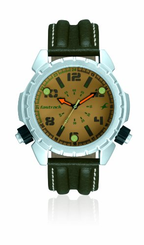 Fastrack Commando Analog Beige Dial Men's Watch - 3090SL02 image