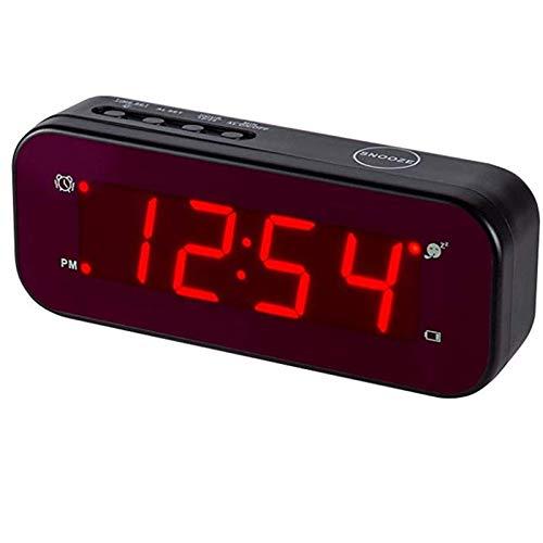 Reloj despertador LED Timegyro de fácil configuración y con batería solo grandes dígitos...