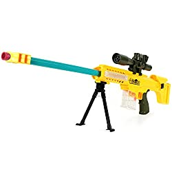 Foam Dart Gun Blaster Shoot Water Ball Spring Powered Toy Sniper Rifle Mk01 24.5 Inch Long, Light Up Aiming Scope, Suction Darts, Clear Eco Friendly Shooting Battle, Usa Warranty 100% Guarantee