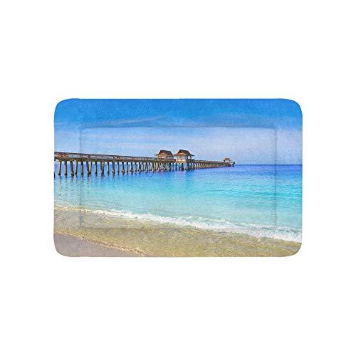 Florida Us Strand Ozean Landschaft Extra Große Individuell Bedruckte Bettwäsche Weiche Hundebett Couch Für Welpen Und Katzen Möbel Matte Höhlenauflage Kissen Innen 36x23 Zoll -