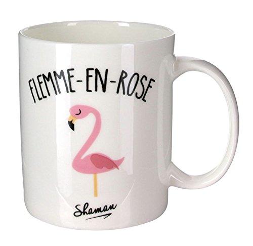 Mug Flemme en rose Blanc Porcelaine Le fabuleux Shaman 37-1X-003