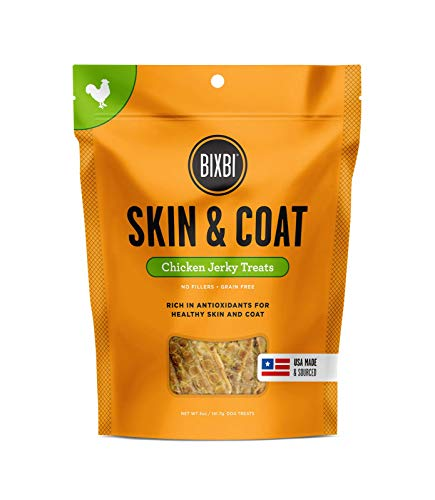 BIXBI Skin & Coat Dog Jerky Treats, Chicken, 5 Ounce by BIXBI -