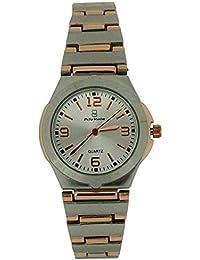 Philip Mercier PMP19A - Reloj para mujeres, correa de metal color plateado