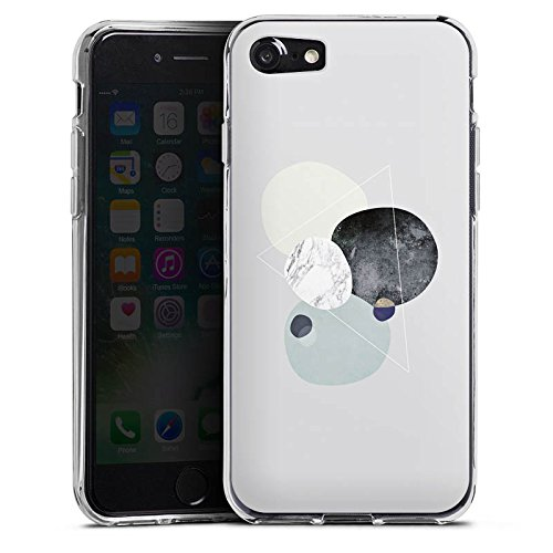 Apple iPhone 5s Silikon Hülle Case Schutzhülle Abstrakt Grafik Art Silikon Case transparent