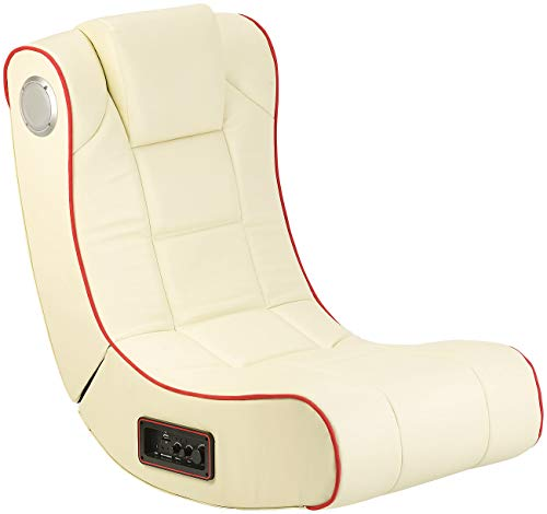 Mod-It Sessel: 2.1-Soundsessel mit Vibration für Gaming & Film, Bluetooth, cremeweiß (Soundchair)