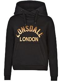 Lonsdale London Pull à capuche pour femme Noir à capuche Pull pour vêtements de sport