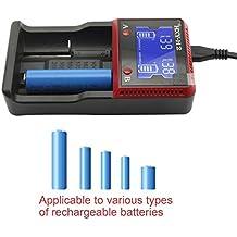 Svpro USB Universal Cargador de Pilas 2 Slots LCD Para Baterías Recargables 3.2v / 3.7v Li-ion / LiFePO4 AA AAA Cargador Rápido Inteligente (H2)