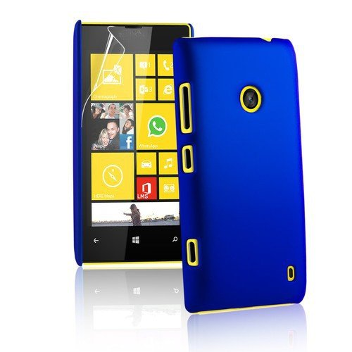WOW IMAGINE Rubberised Hard Case Back Cover for NOKIA LUMIA 520 / NOKIA LUMIA 525- UBER BLUE  available at amazon for Rs.149