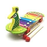 Mikiya Hölzernes musikalisches Spielzeug Kleinkind Spielzeug Bunte Pfau Klavier Auto Spielzeug Musikinstrument Früherziehung Geschenk für Baby/Kleinkind/Kinder