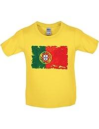 Dressdown Portugal Drapeau Style Grunge - T-Shirt Enfant - 10 Couleur - 3- 05716e4b972