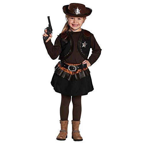 (Rubie's Kinder Kostüm Cowgirl Cowboy Mädchen Karneval Fasching Gr.128)