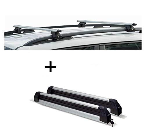 VDP CRV120A Porte-Ski/Snowboard Extensible pour Opel Agila 00-08