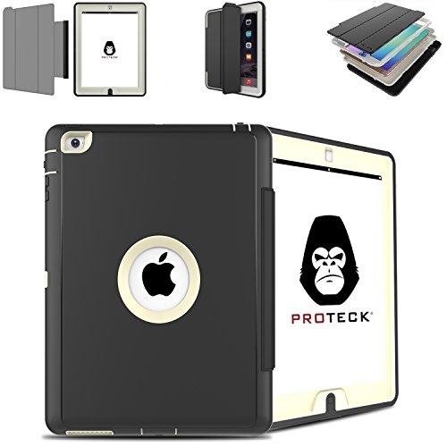 Anti Shock Fall Ipad 2 3 4 - Shell Verstärkter für Apple iPad 2 iPad 3 iPad 4 - Triple Schutz, Shell mit Multifunktions-Set im Standby / Awake Automatik - Grau