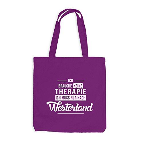 Jutebeutel - Non Ho Bisogno Di Terapie Per Il Westerland - La Terapia Natalizia Si Rilassa Magenta