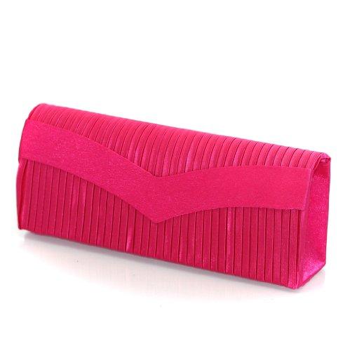 Designer Monte Lovis Damentasche Clutch mit Trageriemen ideal als Brauttasche oder Tanztasche in verschiedenen Farben!! Pink