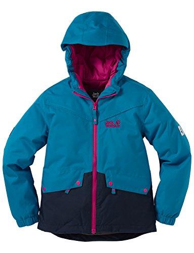 Jack Wolfskin Mädchen Jacke Wattiert Wintertime Texapore INS Jacket, Dark Turquoise, 104, 1605371-1077104