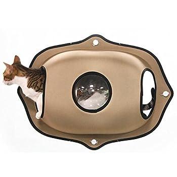 Myyxt Hamac de fenêtre de chat Durable Robuste avec ventouse forte Sac spatial NID mat de chat , B