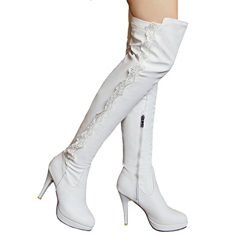 YE , Bottes classiques femme Weiß