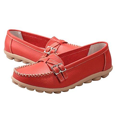 Lisianthus002 , Mocassins pour femme red