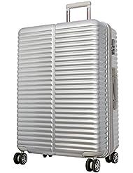 Koffer Lyon Silber Größe XL Polycarbonat Hartschale Reisekoffer Trolley Case Bowatex