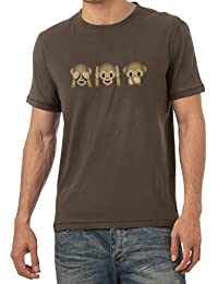 TEXLAB - Three Monkeys Emoji - Herren T-Shirt