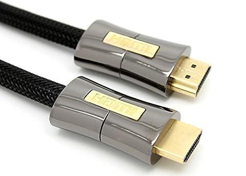 LCS - PEARL - 2M - Câble HDMI 1.4 - 2.0 - 2.0 a/b - Professionnel - 3D - Ultra HD 4K 2160p - Full HD 1080p - HDR - ARC - CEC - High Speed par Ethernet - Connecteurs plaqués or
