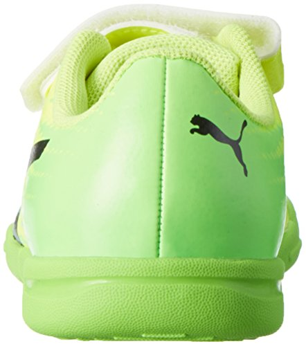 Puma Evospeed 17.5 It V Jr, Chaussures de Football Compétition Mixte Enfant Jaune (Safety Yellow-puma Black-green Gecko 01)
