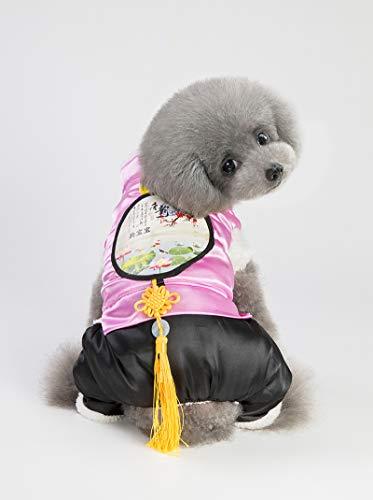 Foto Kostüm Nationale - miaoxuewei Hundebekleidung Herbst und Winter Tang Anzug chinesischen Stil nationalen Wind sowie Baumwolle Verdickung Teddybär Vier Fuß