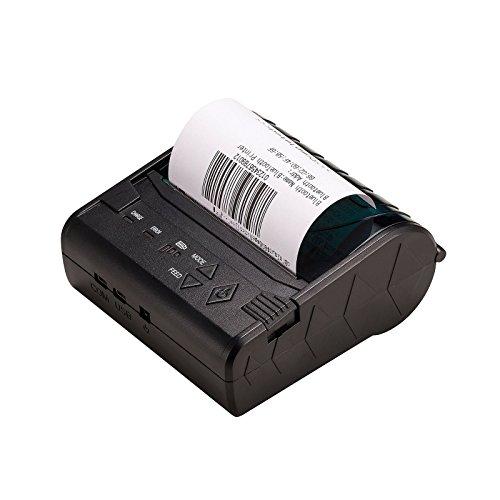 Minidrucker Bluetooth, 80Mm 3Inch Etikettendrucker Handy Aufkleber Drucker Mit RS232 Und USB Ports Für Android Windows Mobile
