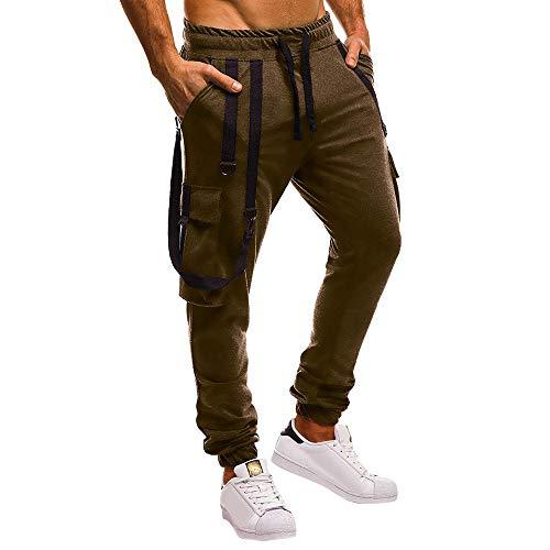 SHE.White Jogginghose Herren Jumpsuits - Männer Schlinge Trainingsanzug Modern   Baumwolle Jungen Slim Fit Freizeithose     Sporthose - Training - Trainingshose  